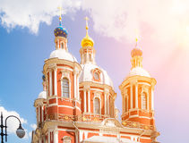 The church of Saint Clement of Rome in Moscow Stock Photos