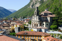Church of Saint Cosma and Damiano at Mendrisio on Switzerland Stock Images