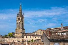 Church of Saint-Emilion, Gironde, Aquitaine, France. Church of Saint-Emilion. The town is a UNESCO World Heritage site royalty free stock images