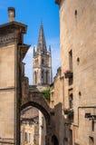 Church of Saint-Emilion, Gironde, Aquitaine, France. Church of Saint-Emilion. The town is a UNESCO World Heritage site stock photography