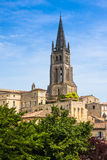 Church of Saint-Emilion, Gironde, Aquitaine, France Stock Photography