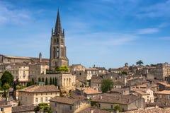 Church of Saint-Emilion, Gironde, Aquitaine, France. Church of Saint-Emilion. The town is a UNESCO World Heritage site royalty free stock photo
