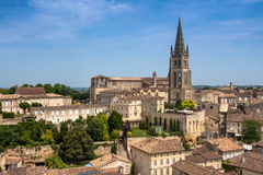 Church of Saint-Emilion, Gironde, Aquitaine, France Stock Image