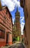 Church Saint-Etienne in Dambach-la-ville, Alsace, France Royalty Free Stock Photo