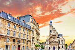 Church of Saint-Etienne-du-Mont (1494-1624) in Paris near Panthe Royalty Free Stock Photos