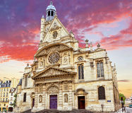 Church of Saint-Etienne-du-Mont Stock Photography