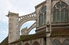 Church Saint-Eusèbe (Auxerre Bourgogne France) Stock Images