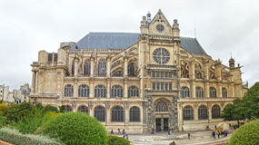 The Church of Saint Eustache. Royalty Free Stock Image