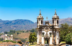 Church of Saint Francis of Assisi in Ouro Preto, Minas Gerais, Brazil Stock Image