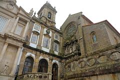 Church of Saint Francis Igreja de São Francisco is the most prominent Gothic monument in Porto, Portugal. It is located in the. Historic centre of Porto royalty free stock image