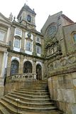 Church of Saint Francis Igreja de São Francisco is the most prominent Gothic monument in Porto, Portugal. It is located in the. Historic centre of Porto stock image