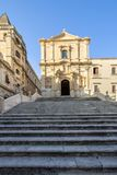 Church of Saint Francis, Noto, Italy. Church of Saint Francis Immaculate in the Noto, Italy royalty free stock image