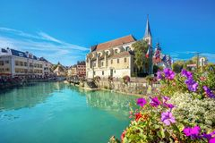 Church of Saint Francois de Sales in Annecy. France stock photography