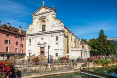 Church of Saint Francois de Sales in Annecy - France stock photo