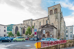 Church of Saint Genes in Thiers - France Royalty Free Stock Photo