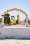 Church of Saint George Through the Archway Stock Photo