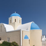 Church of Saint George on Santorini Stock Photo