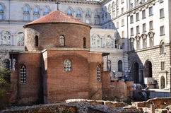 Church of Saint George, Sofia. Church of St. George - Sofia, Built by the Romans in the 4th century AD,in Sofia, Bulgaria. . The Largo, this is an architectural royalty free stock image