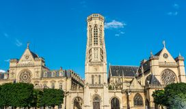 Church of Saint-Germain-l'Aux errois,Paris, France Stock Photography