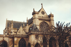 The Church of Saint-Germain l'Auxerrois, Paris Stock Image