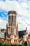 The Church of Saint-Germain-l'Auxerrois, Place du Louvre in Paris Stock Photography