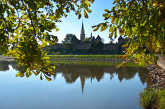 Church of Saint Giles in Nymburk Royalty Free Stock Images
