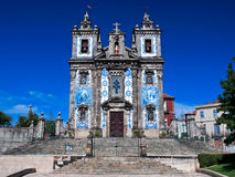 Church of Saint Ildefonso in Porto, Portugal. This is an 18th century church in Porto, Portugal. Completed in 1739, the church features a façade of azulejo tile Royalty Free Stock Photo