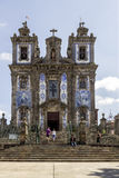 Church of Saint Ildefonso - 18th century building in Baroque style Stock Photos