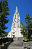 Church of Saint-Imier, Jura, Switzerland. Stock Image