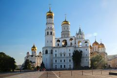 Church of Saint Ioann Lestvichnik and Ivan the Great Bell Tower, Kremlin, Moscow. Church of Saint Ioann Lestvichnik and Ivan the Great Bell Tower complex royalty free stock photography