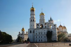 Church of Saint Ioann Lestvichnik and Ivan the Great Bell Tower, Kremlin, Moscow. Church of Saint Ioann Lestvichnik and Ivan the Great Bell Tower complex stock image