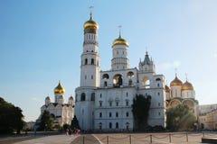 Church of Saint Ioann Lestvichnik and Ivan the Great Bell Tower, Kremlin, Moscow. Church of Saint Ioann Lestvichnik and Ivan the Great Bell Tower complex royalty free stock image