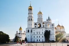 Church of Saint Ioann Lestvichnik and Ivan the Great Bell Tower, Kremlin, Moscow. Church of Saint Ioann Lestvichnik and Ivan the Great Bell Tower complex royalty free stock images
