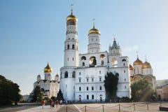 Church of Saint Ioann Lestvichnik and Ivan the Great Bell Tower, Kremlin, Moscow. Church of Saint Ioann Lestvichnik and Ivan the Great Bell Tower complex stock photography