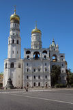 Church of Saint Ioann Lestvichnik and Ivan the Great Bell Tower, Kremlin, Moscow Royalty Free Stock Photo