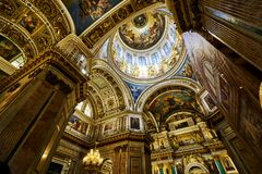 Church of Saint Isaac`s Cathedral stock images