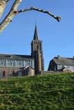 Church of Saint-Jean-Sart on a hill top Royalty Free Stock Photos