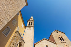 Church Saint John (Ivan) in  Budva, Montenegro Stock Photo