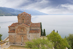Church of Saint John  Kaneo at lake Royalty Free Stock Images