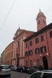 Church of Saint Joseph and Saint Ignatius in the fog. Bologna. Italy. Royalty Free Stock Images