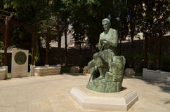 The Church of Saint Joseph. The statue of Joseph near the Church of Saint Joseph at Nazareth in Israel Stock Photography