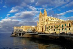 Church of Saint Julian's, Balluta Bay, Malta Royalty Free Stock Photo