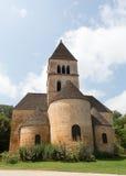The Church in Saint-Léon-sur-Vezere. The church in France's Saint-Léon-sur-Vezere stock photography