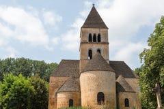Church in Saint-Léon-sur-Vezere. View of the church in France's Saint-Léon-sur-Vezere royalty free stock photos