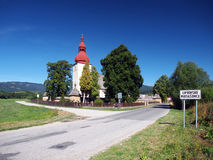 Church of Saint Ladislav in Liptovske Matiasovce Stock Photography
