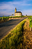Church of Saint Laurent d'Oingt - Beaujolais Stock Photo