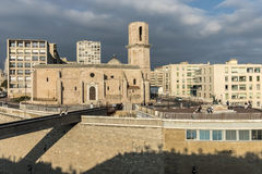 Church Saint Laurent from 12th century in Marseille, France Stock Photography