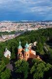 Church of Saint Lawrence in Prague, Czech Republic. Church of Saint Lawrence from Dientzenhofer, Prague, Czech Republic Stock Images
