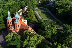 Church of Saint Lawrence in Prague, Czech Republic. Church of Saint Lawrence from Dientzenhofer, Prague, Czech Republic Stock Image