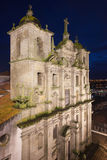 Church of Saint Lawrence by Night in Porto Stock Photography